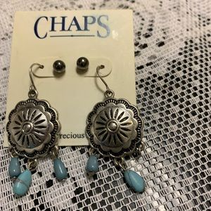 Two pairs Chaps earrings.